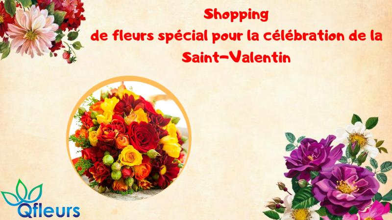 Shopping de fleurs spécial pour la célébration de la Saint-Valentin