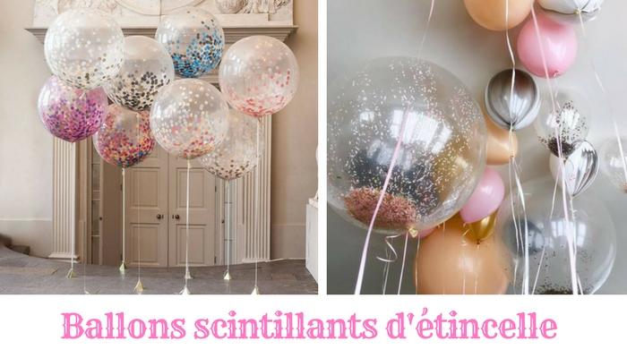 Des ballons étincelants scintillants