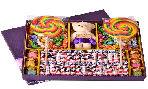 Cadeau D'anniversaire Boîte À Chocolat Arc-En-Ciel