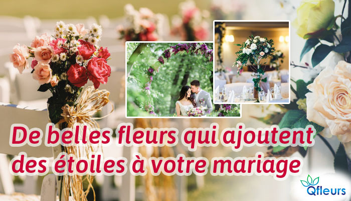 De belles fleurs qui ajoutent des étoiles à votre mariage