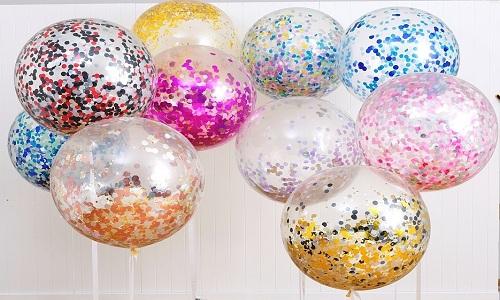 Divers Confettis ajoutes balloons