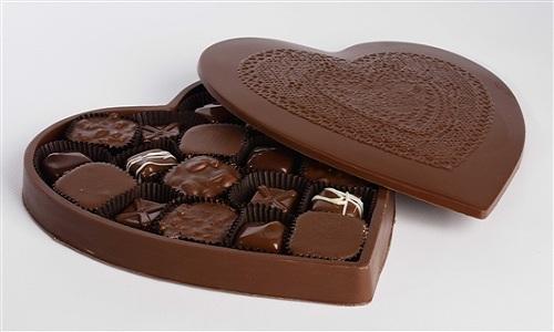 Boite de chocolat en forme