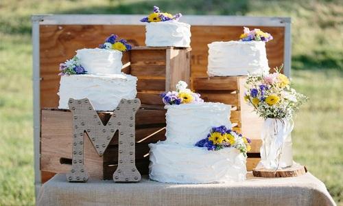 Gateau de mariage arrange