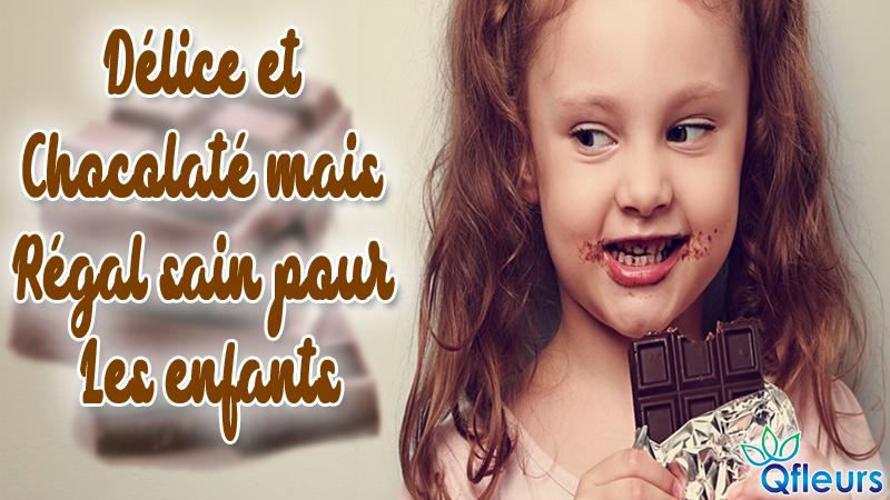 Délice et chocolaté mais régal sain pour les enfants