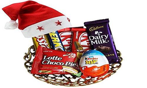 Panier de chocolat de Noel