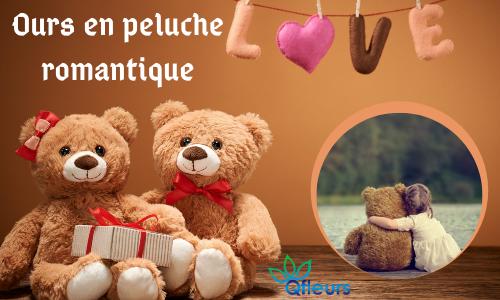 Ours en peluche romantique