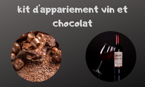 Kit d'appariement vin et chocolat