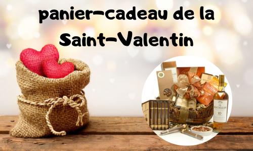 Panier-cadeau de la Saint-Valentin