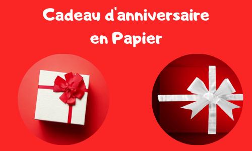 Cadeau d'anniversaire en Papier
