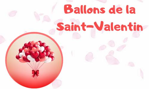 Ballons de la Saint-Valentin