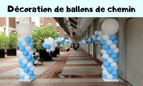 Décoration de ballons de chemin