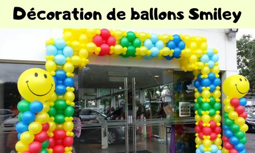 Décoration de ballons Smiley