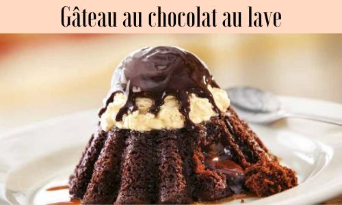 Gâteau au chocolat au lave