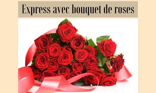 Express avec bouquet de roses