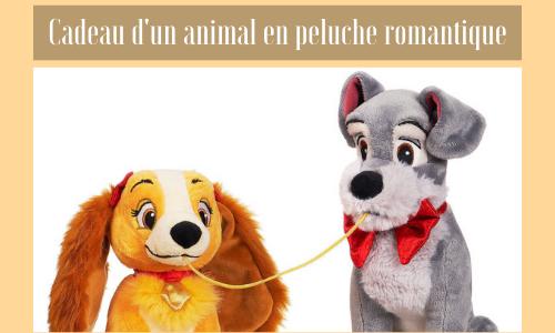 Cadeau d'un animal en peluche romantique