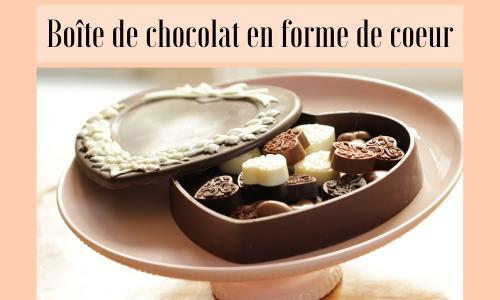 Boîte de chocolat en forme de coeur