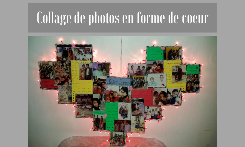 Collage de photos en forme de coeur
