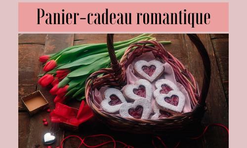 Panier-cadeau romantique