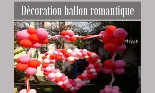 Décoration ballon romantique
