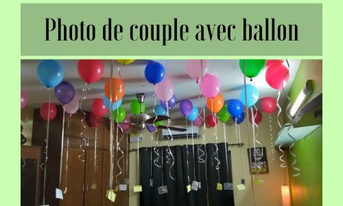 Photo de couple avec ballon