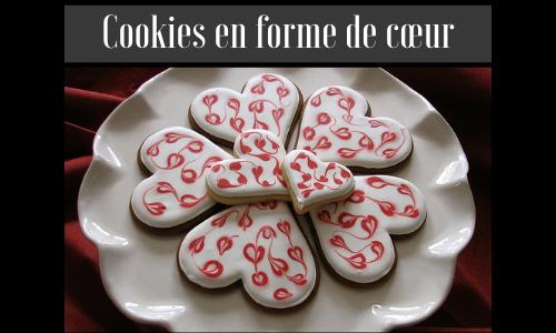 Cookies en forme de cœur