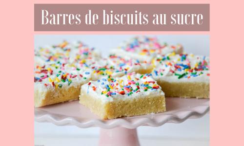 Barres de biscuits au sucre