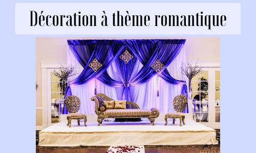 Décoration à thème romantique