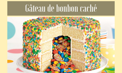 Gâteau de bonbon caché