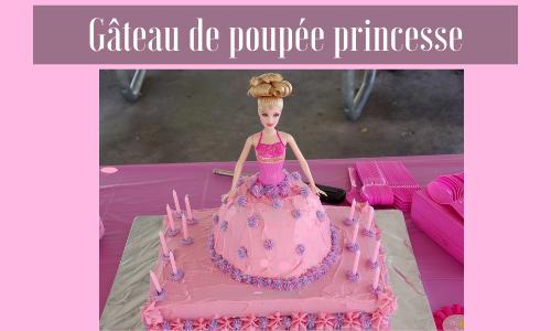 Gâteau de poupée princesse