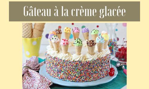 Gâteau à la crème glacée