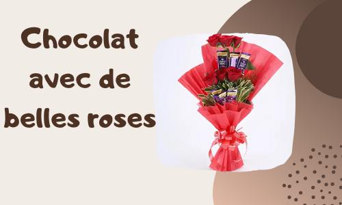 Chocolat avec de belles roses