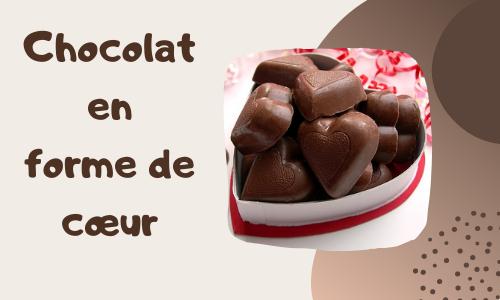 Chocolat en forme de cœur