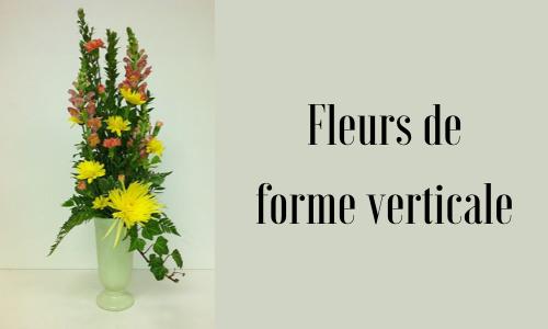 Fleurs de forme verticale