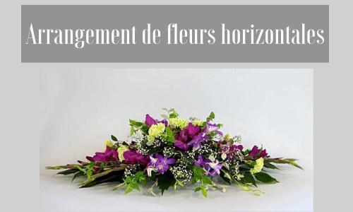 Arrangement de fleurs horizontales