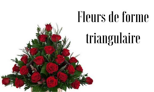 Fleurs de forme triangulaire