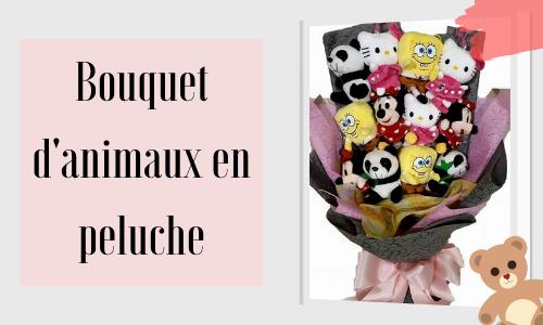 Bouquet d'animaux en peluche