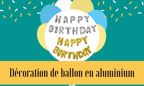 Décoration de ballon en aluminium