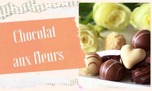 Chocolat aux fleurs