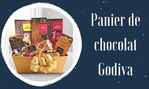 Panier de chocolat Godiva