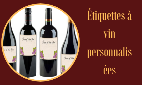 Étiquettes à vin personnalisées