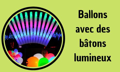 Ballons avec des bâtons lumineux