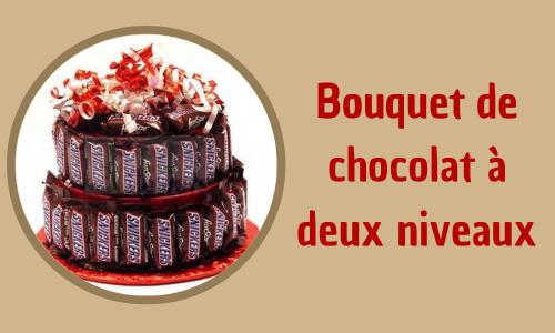Bouquet de chocolat à deux niveaux