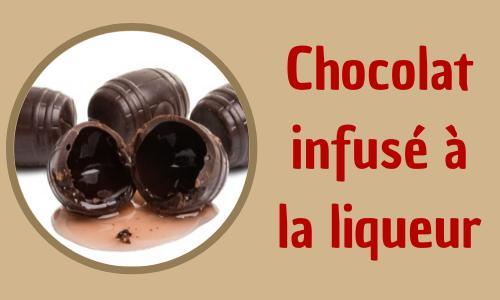 Chocolat infusé à la liqueur