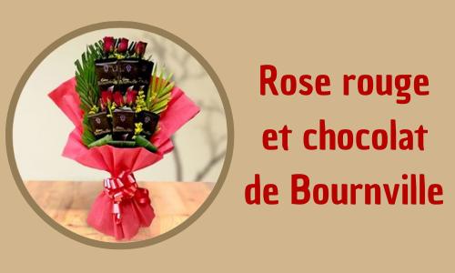 Rose rouge et chocolat de Bournville