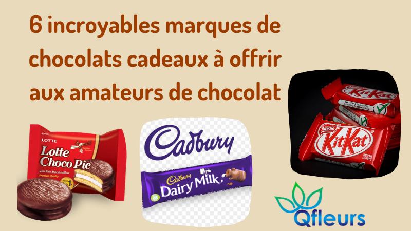 6 incroyables marques de chocolats cadeaux à offrir aux amateurs de chocolat
