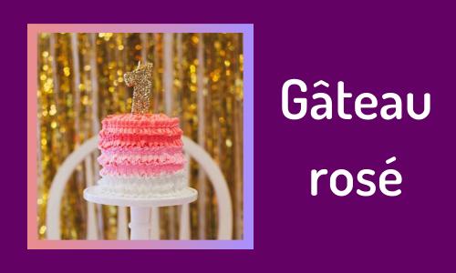 Gâteau rosé