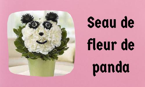 Seau de fleur de panda