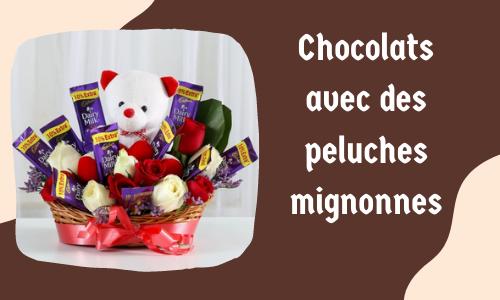 Chocolats avec des peluches mignonnes