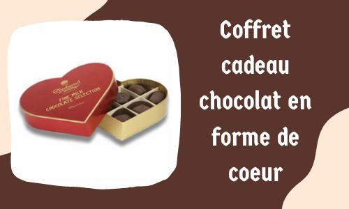 Coffret cadeau chocolat en forme de coeur