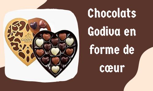 Chocolats Godiva en forme de cœur